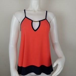 City Halo M Tank Top W/ Keyhole Openings NWT